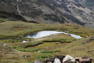A Small Highland Lake by the Pass