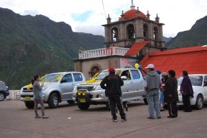 Cars Getting Blessed at Huanca