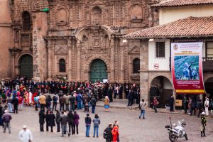 Celebration by the Paraninfo in Cuzco (Photo: Alonzo Riley)