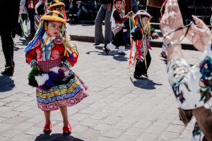 A young girl poses in her traditional dancing attire (Photo: Arnold Fernandez)