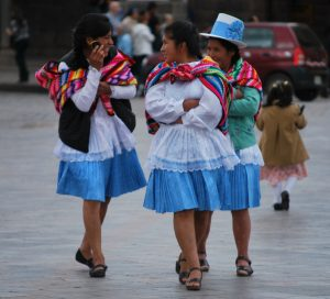 Women in Traditional Dress in Cuzco