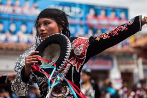 Bringing the dances and dress of Puno to Cuzco.