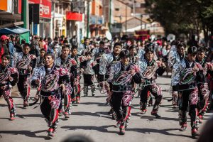 The active Caporales on the streets with their endless energy.