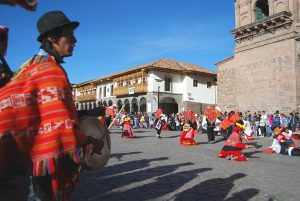Playing the Tarola and Directing a Dance Troupe in Cuzco (Photo: Wayra)