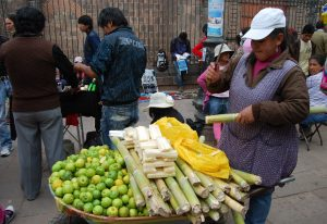 Sugar Cane For Sale on Cuzco Streets (Photo: Wayra)