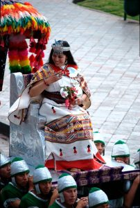 The Inca Queen (Qoya) in Inti Raymi 2013 (Photo: Brayan Coraza Morveli)