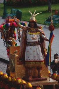 The Inca in Inti Raymi 2013 (Photo: Brayan Coraza Morveli)