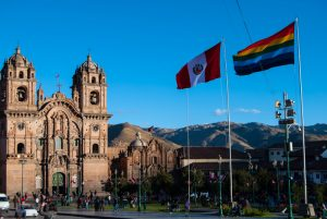 Flags on the Plaza, Peru and Tawantinsuyo (PHoto: Wayra)