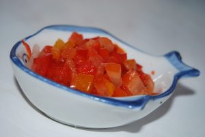 Diced Rocoto Peppers Tempered with Lime Juice (Photo: Wayra)