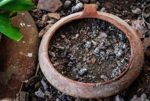 Dirt and Pot in a Home Garden (Photo: Alex Sandro Valderrama Valer)