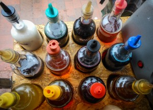 Bottles of Different Syrups for Snow Cones (Photo: Walter Coraza)