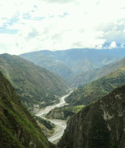 Amazing View of a Canyon before Arriving at Machu Picchu