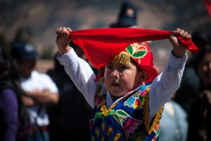 A Young Dancer Giving a Saludo to Cuzco (Photo: Walter Coraza morveli)