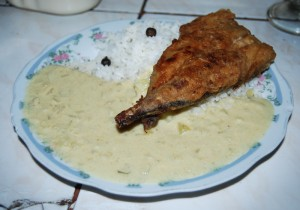 A Special Dish for Lunch, Tarwi with Fried Fish (Photo Heber Huamani Jara)