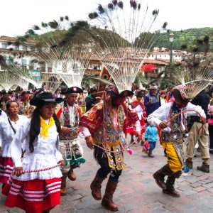Huaylías Dancers from Andahuaylas Parade in Cuzco (Photo: David Knowlton)