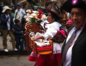 Carrying the Manuelito From the Cathedral (Photo: David Knowlton)