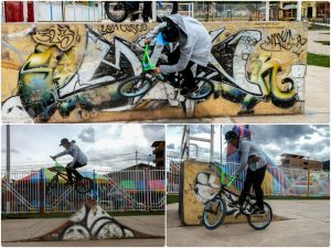 Marcelo Monge Doing BMX on the Graffities the Sk8 Park Cachimayo Cusco(Photo: Brayan Coraza Morveli).