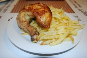 Chicken and French Fries, a Favorite Fast Food