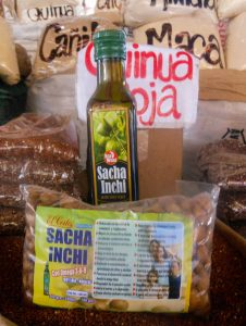 Sacha Inchi Oil in San Pedro Market