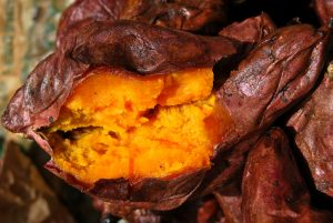 Cusco Street Food, Baked Sweet Potato