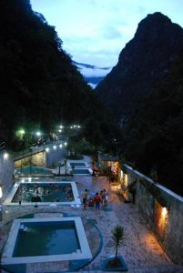 Hot springs pools in Aguas Calientes, the staging ground for Machu Picchu.