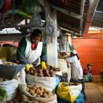 A Large Variety of Potatoes in San Pedro Market