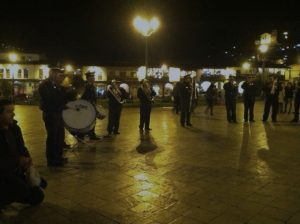 The Police Band Playing in the Huayno Hour
