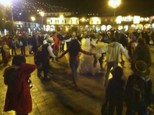 Dancing in the Plaza during the Huayno Hour