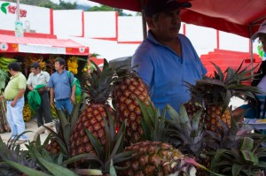 A Stand of Pineapple in the Fair