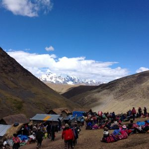 People Gathering at High Altitude Before the Mountain Lord (Eric Rayner)