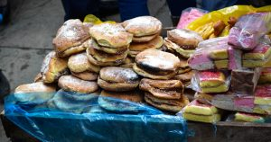 Bread and Cake for Sale on the Street (Wayra)