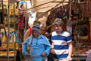 Young Tourists Looking for Deals in Pisac (Wayra)