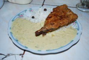 Tarwi with Fried Fish