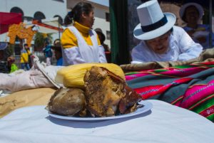 Serving a Classical Lechon with a Salty Tamal (Walter Coraza Morveli)