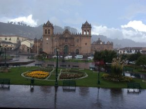Rain and the Cathedral in Cusco (Brayan Coraza Marveli)