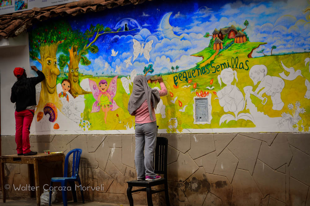 Art education and murals in cuzco cuzco eats for Education mural