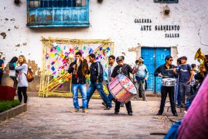 Musicians Celebrating Carnaval in Cuzco
