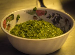 Fresh Ground, Green Hot Sauce (Walter Coraza Morveli)