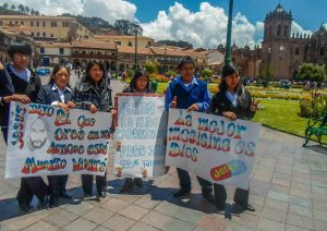 Evangelicals Preaching in Cuzco's Main Square