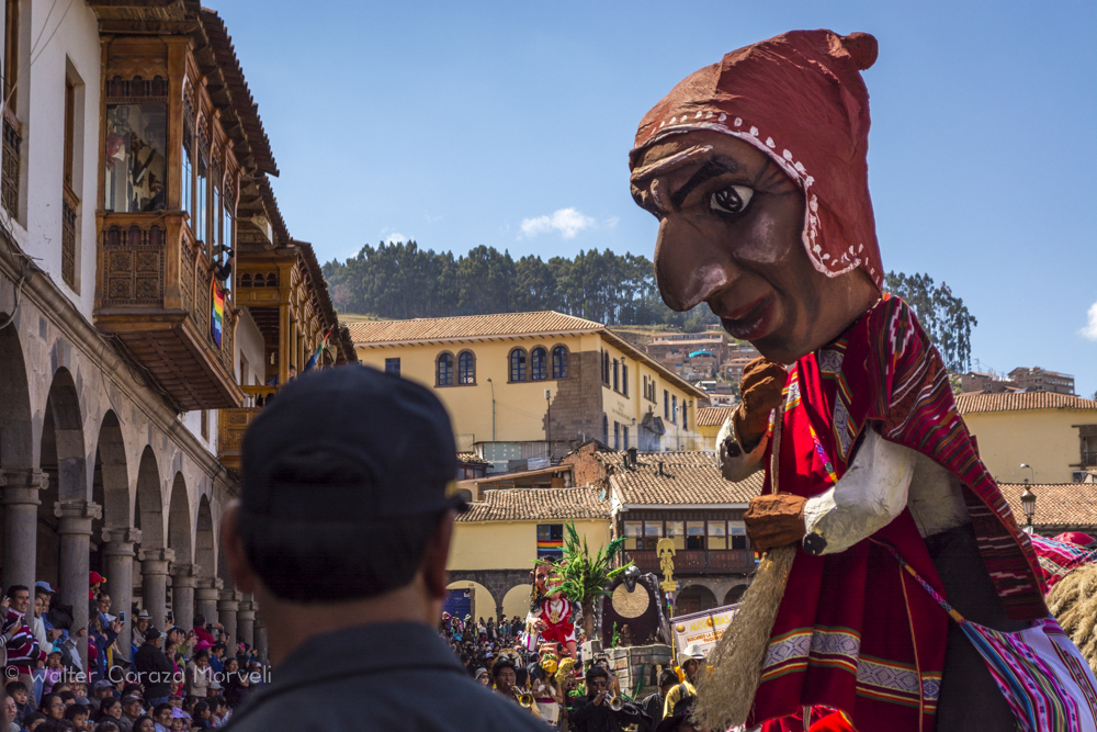 Bellas Artes Parade Today, an Andino Figure (Walter Coraza Morveli)