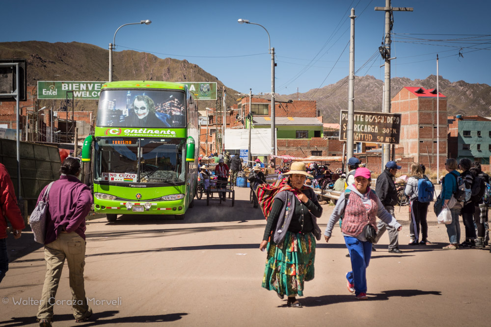 The Bus Crossing the Border Between Bolivia and Peru (Walter Coraza Morveli)