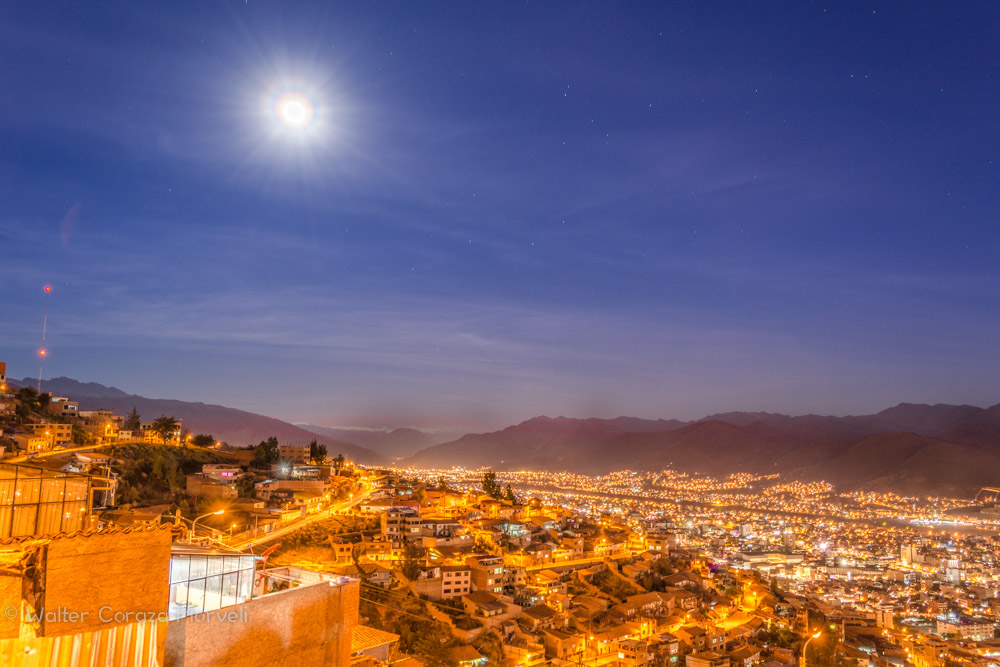 The City of Cusco and the Bright Moon