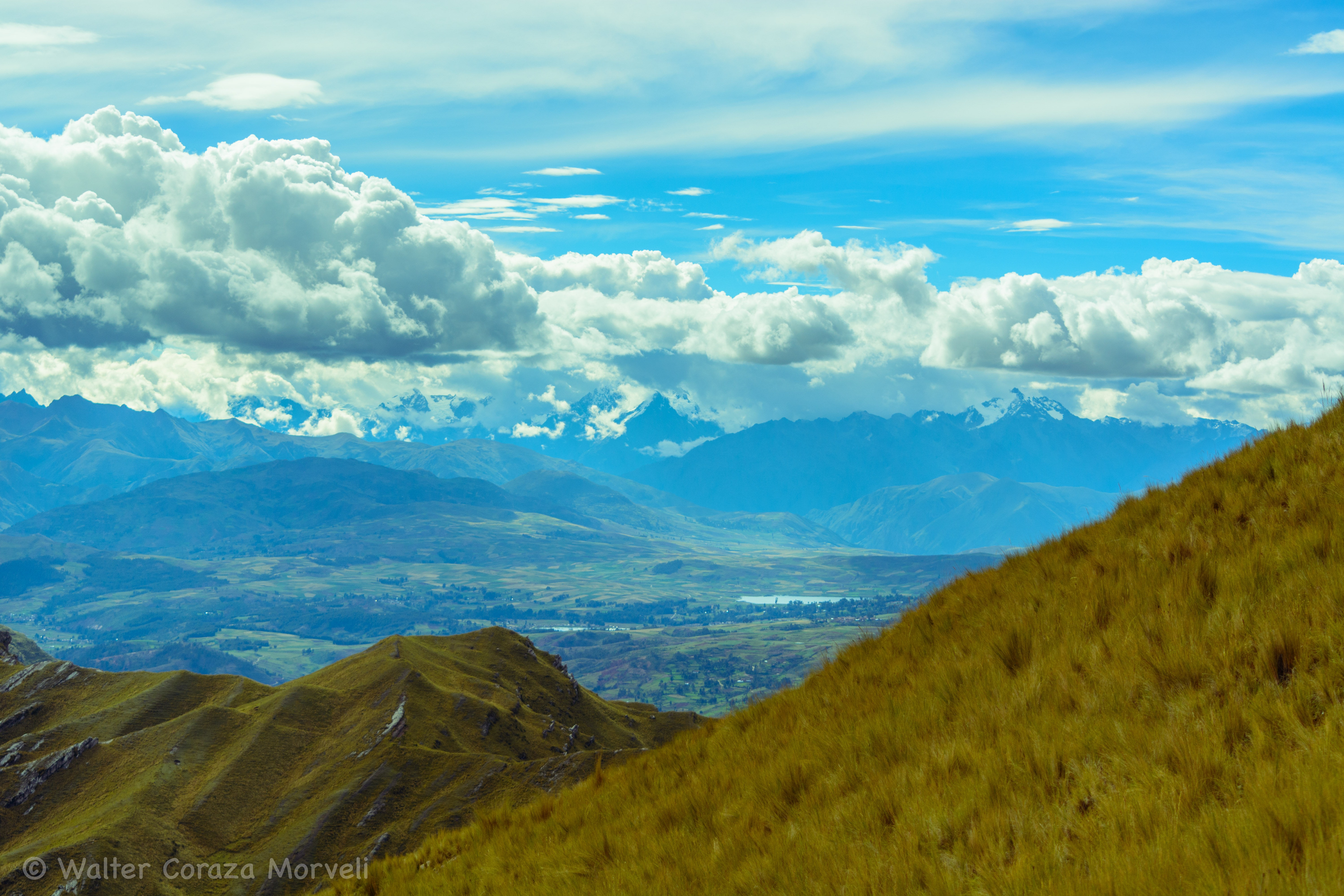 A View of Cusco's Valley from Mama Simona Mountain