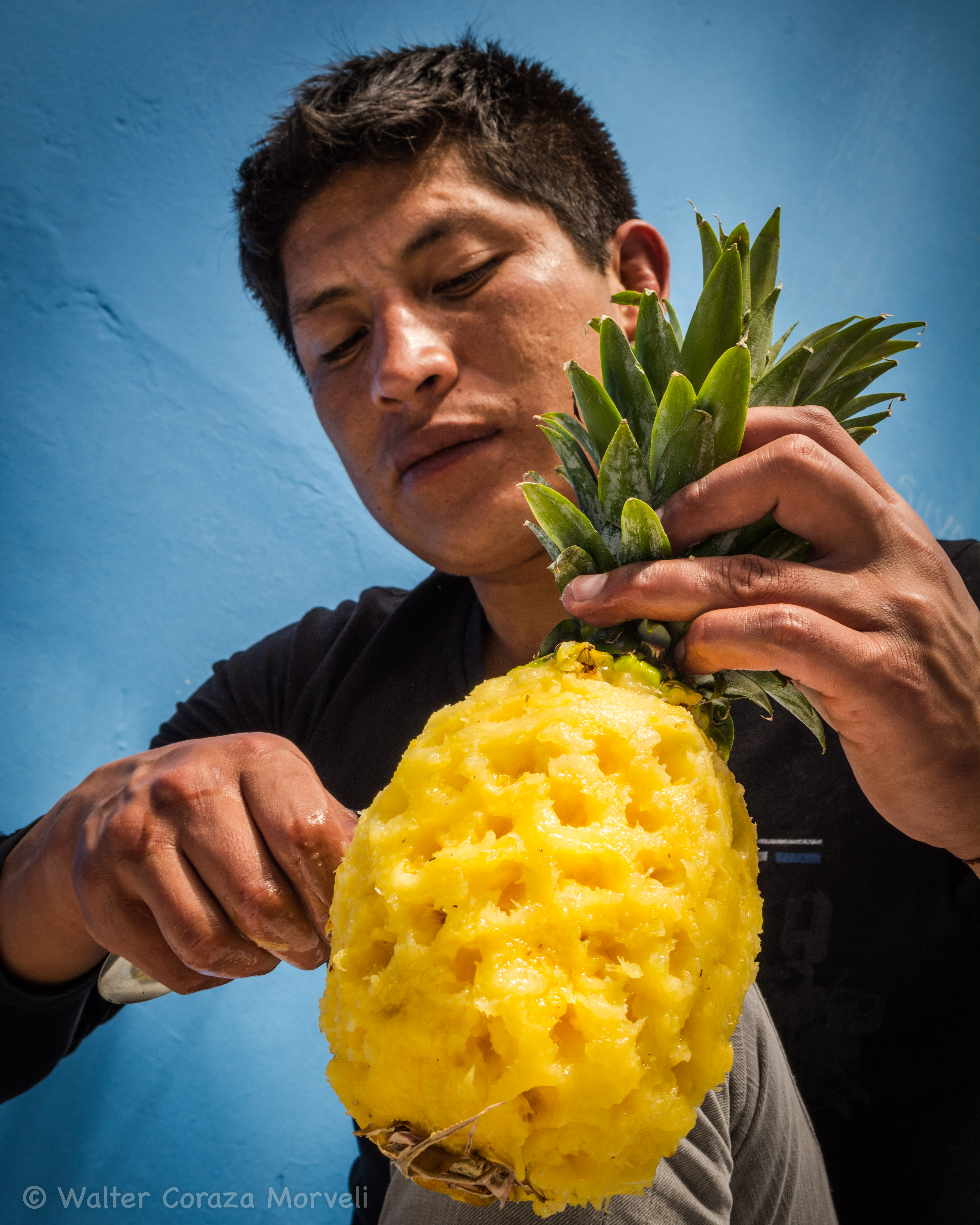 Pealing the Pineapple