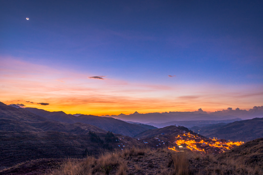 Sunset in the Mountains of Cusco