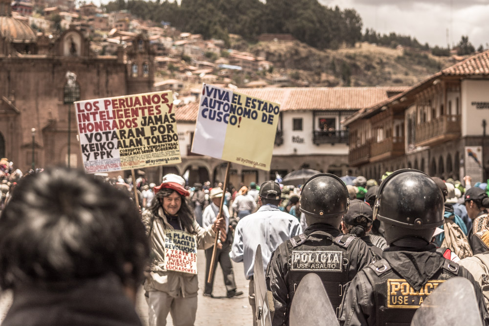 Massive Protest Today in Cusco