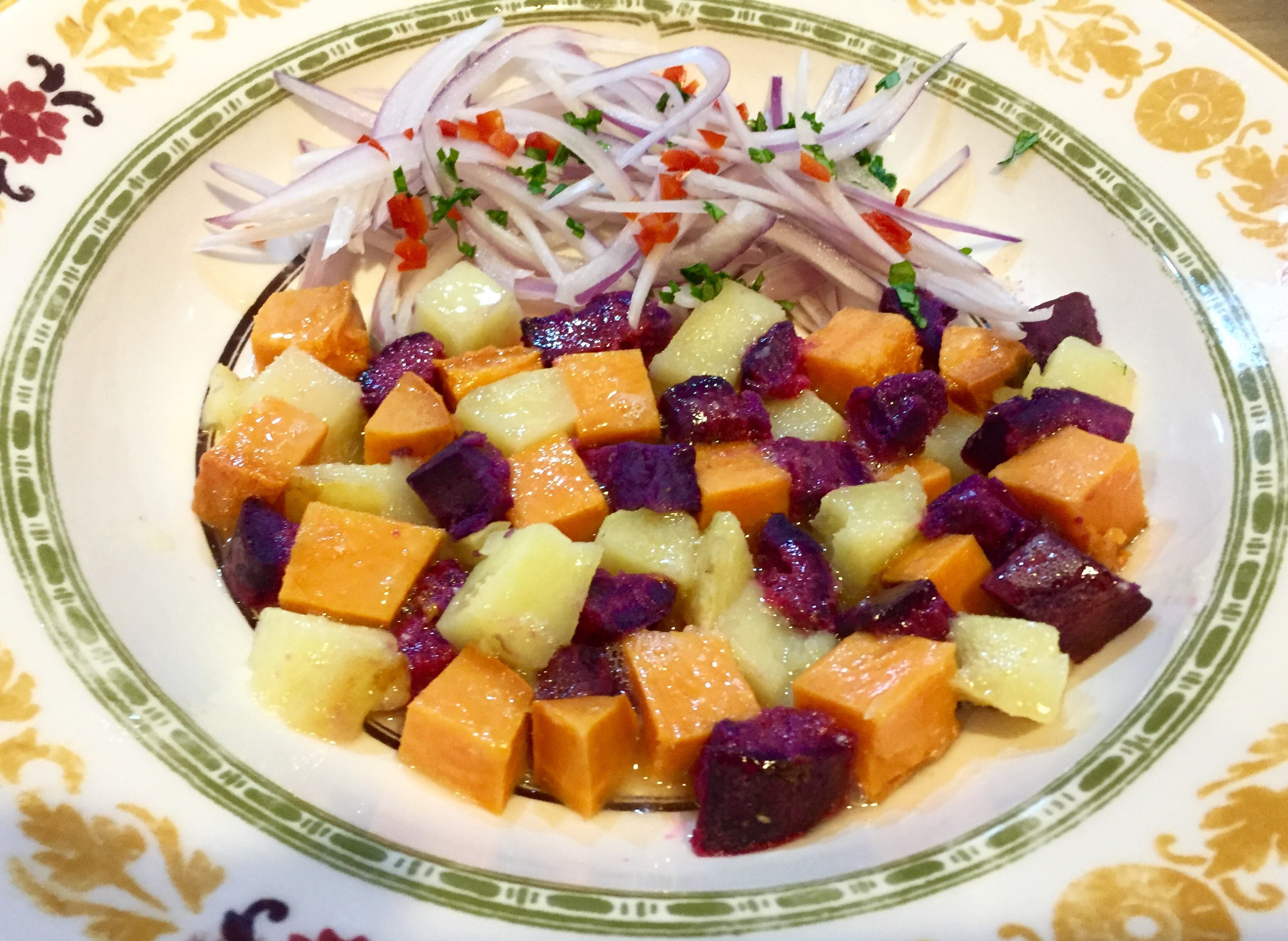 Cebiche-Style Sweet Potatoes with Zarza