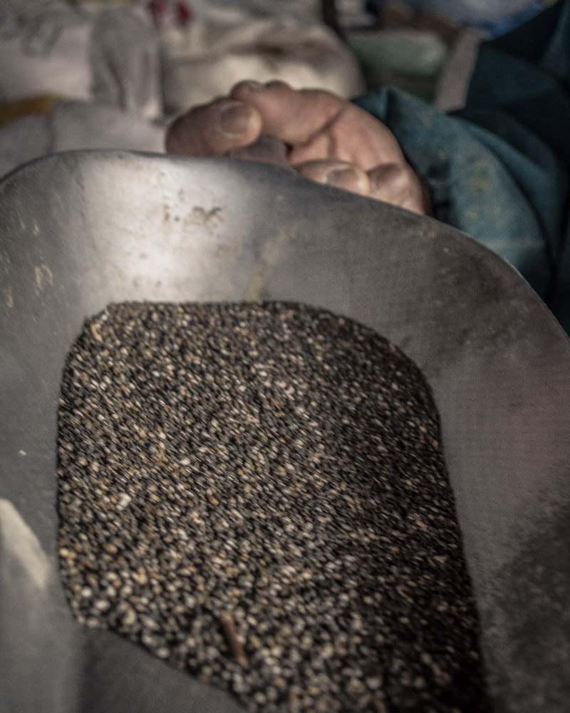Chia Seeds for Sale in San Pedro Market, Cusco