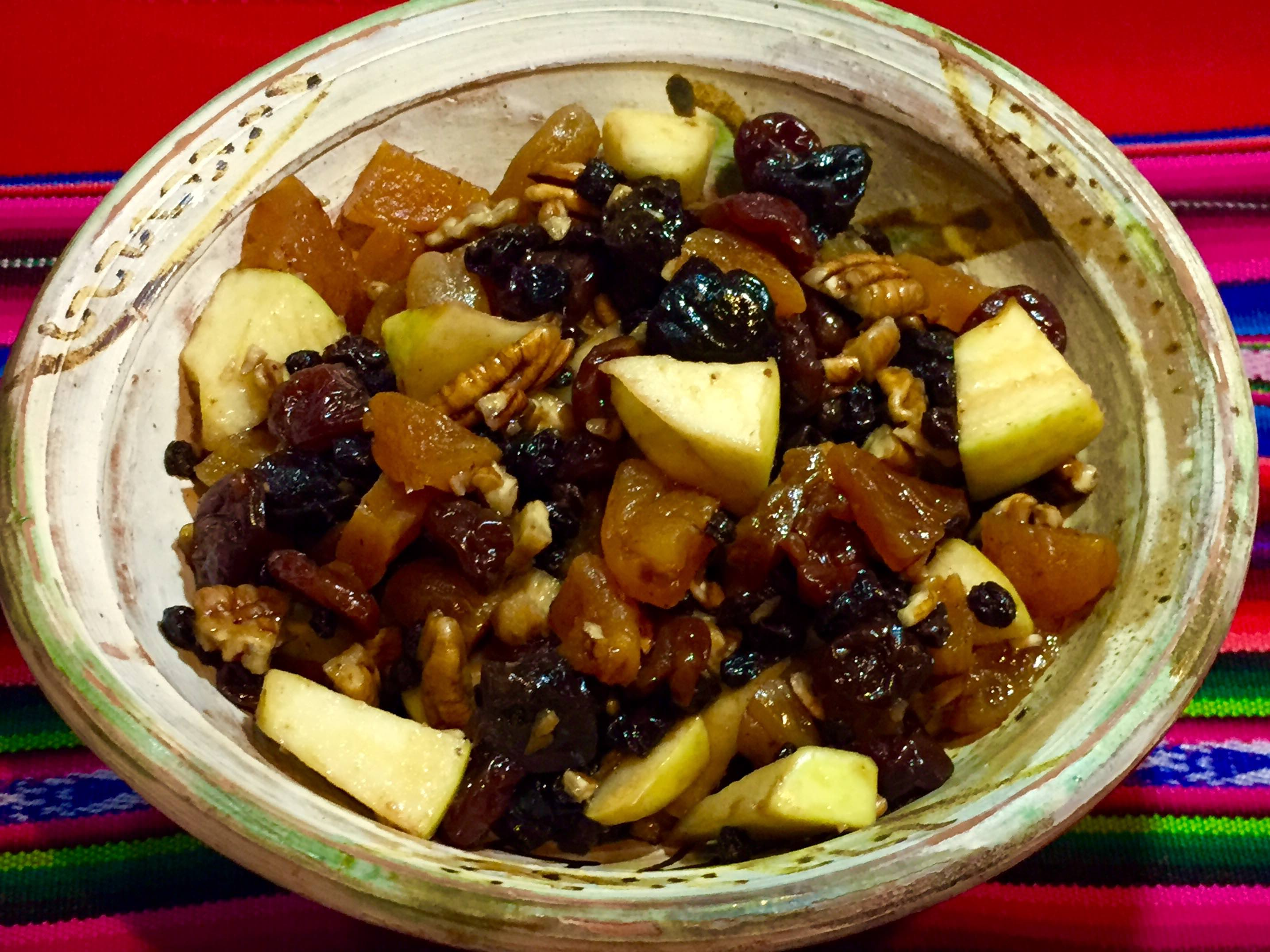 Fruit and Pecans for Stuffing