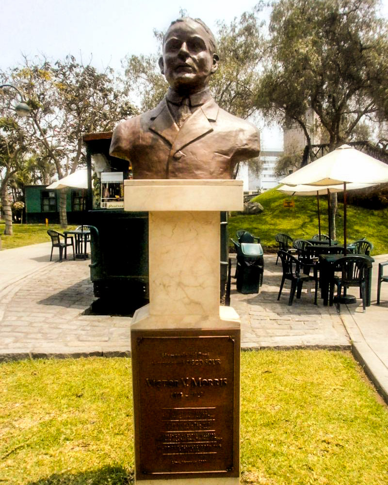 Monument to Salt Lake's Victor Morris in Lima's Parque de la Amistad